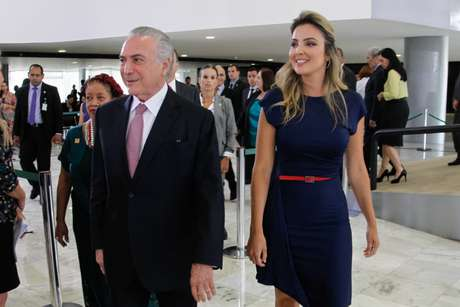 Michel Temer e Marcela Temer em cerimônia no Dia Internacional da Mulher.jpg
