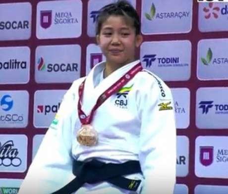 Stefannie Koyama conquista primeira medalha brasileira no Grand Slam de Baku (Foto: Reprodução)