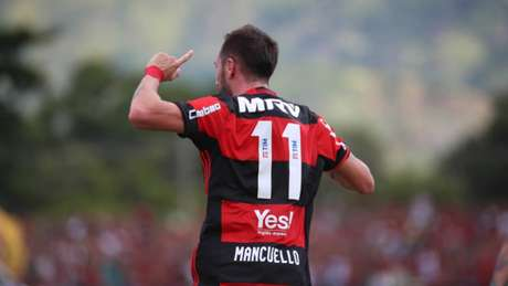 Mancuello está fora da partida contra a Universidad Católica (Fotos: Gilvan de Souza / Flamengo)