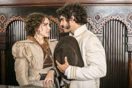 Dom Pedro (Caio Castro) e Leopoldina (Letícia Colin)