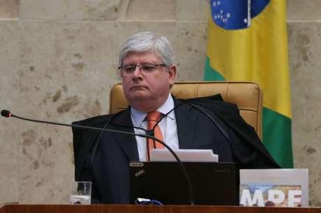 O procurador-geral da República, Rodrigo Janot durante sessão plenária do STF de abertura do Ano Judiciário de 2017 e homenagem ao ministro Teori Zavascki.