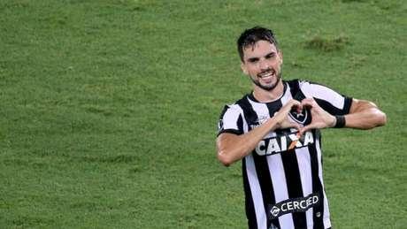 Rodrigo Pimpão fez o gol que sacramentou a difícil vitória do Botafogo nesta terça-feira (Satiro Sodré/SSPress)