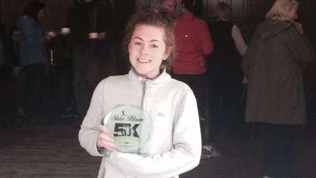 Mesmo com epilepsia crônica, Katie já ganhou provas de corrida importantes