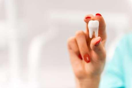 A cor dos dentes decíduos é mais esbranquiçada. Por isso são chamados de dente de leite.