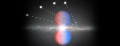 Estudo analisou a luz de quasares que atravessa a bolha