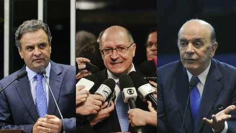 Os presidenciáveis do PSDB, Aécio Neves, José Serra e Geraldo Alckmin, foram citados