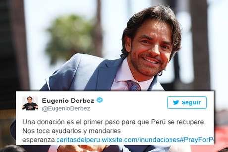 Eugenio Derbez se solidariza con peruanos por huaicos.