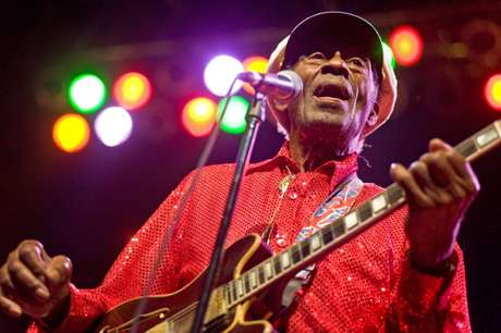 Chuck Berry, durante un concierto en Chicago en 2011