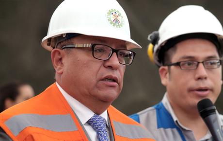El ministro de Energía y Minas, Gonzalo Tamayo.