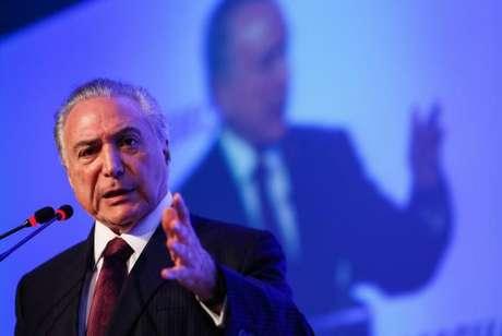 Presidente Michel Temer participa de cerimônia na Câmara Americana de Comércio, em São Paulo
