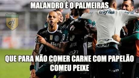 As zoações da vitória do Palmeiras sobre o Santos, na Vila Belmiro