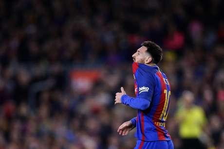 El delantero argentino Lionel Messi del Barcelona durante el partido contra el Valencia en la liga española, el domingo 19 de marzo de 2017.