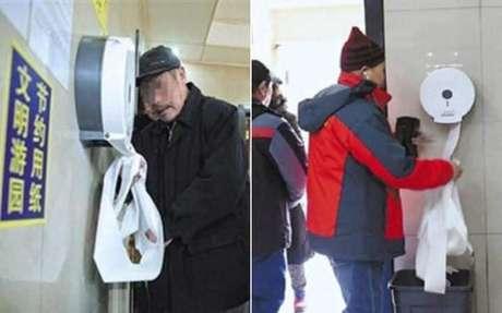 Autoridades acusam turistas de pegarem papel higiênico em excesso nos banheiros públicos de Pequim