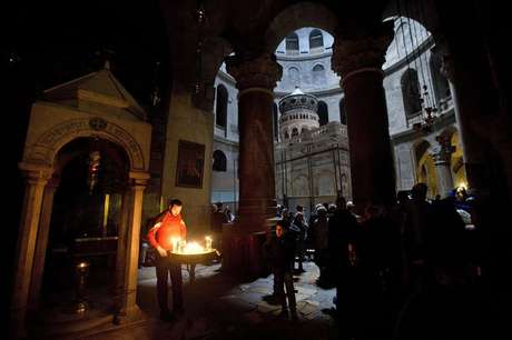 Imagem do Santo Sepulcro, em Jerusalém