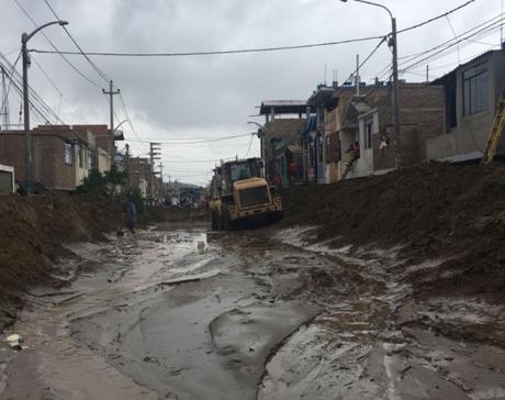 Trujillo resultó inundado por los últimos huaicos.