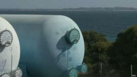 Grande parte do suprimento de água de Perth vem de plantas de dessalinização