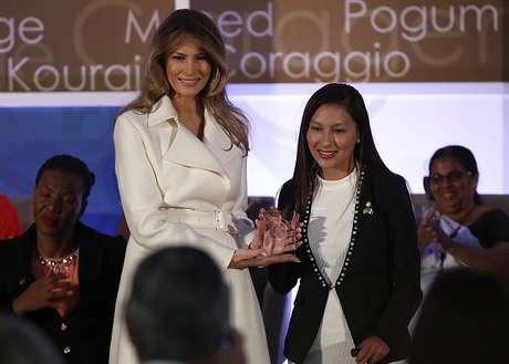 Arlette Contreras junto a Melania Trump