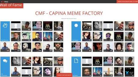A página Capinaremos, abastecida pelo grupo Capina Meme Factory, tem até um hall da fama com a foto de seus membros mais atuantes