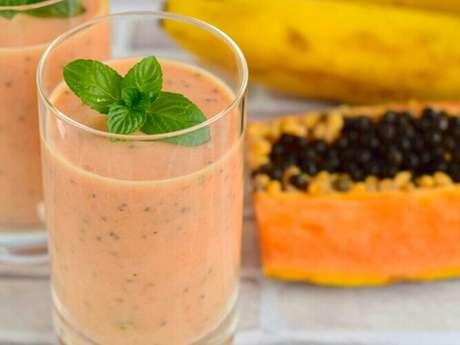 Vitamina mamão c/ banana