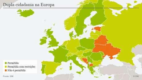Países europeus onde é permitida a dupla cidadania