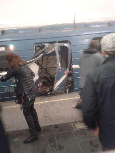 Explosão deixou mortos e feridos em São Petesburgo