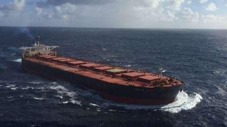 O navio Stellar Daisy, em registro feito em 2014 durante uma operação perto da África do Sul