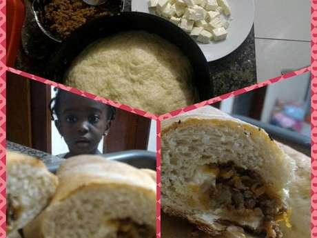 Pão recheado de carne Midana