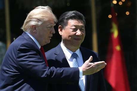 Trump e Xi iniciam reuniões de trabalho na Flórida