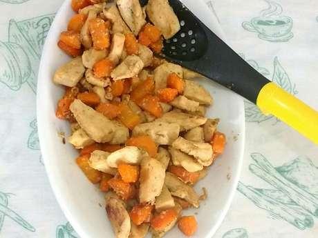 Refogado de frango com cenoura