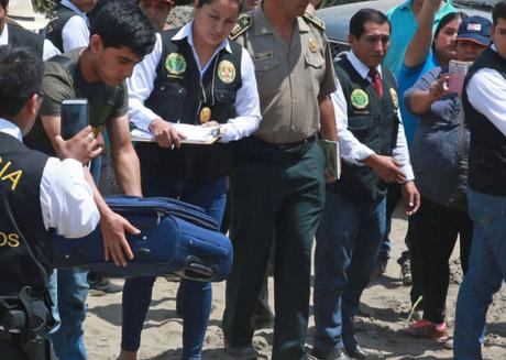 Reconstrucción del crimen de José Yactayo.