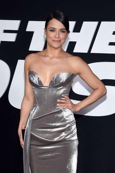 Michelle Rodriguez en el estreno de 'Fast & Furious 8'.