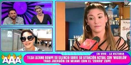 Tilsa Lozano le responde en vivo a Peluchín.