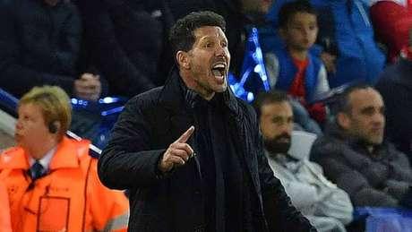 Simeone parabenizou os jogadores do Atlético (Foto: AFP)