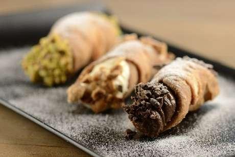 Entre os sabores estão pistache, creme de ricota e chocolate belga