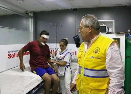 Mototaxista Danny Francis Díaz Collantes, atacado por delincuentes en una unidad del Metropolitano.