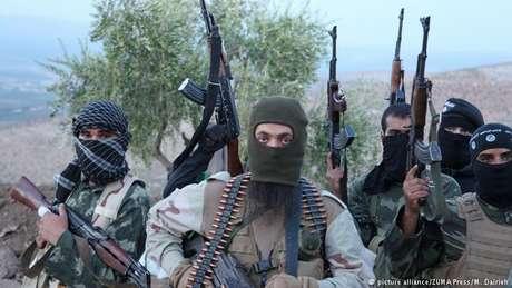 Combatentes da Frente Al-Nusra na Síria