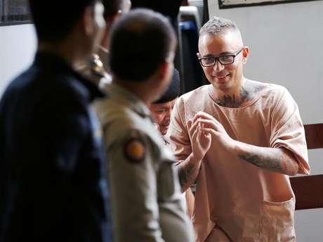 El español Artur Segarra, a su llegada a una audiencia en el Tribunal Penal de Bangkok, Tailandia