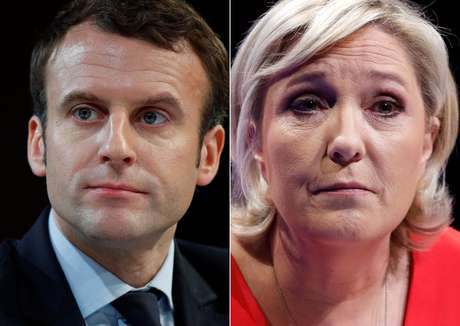 Emmanuel Macron obteve 24,01% dos votos no primeiro turno contra 21,3% de Marine Le Pen.