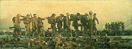 A marcha dos gaseados  (John Singer Sargent)