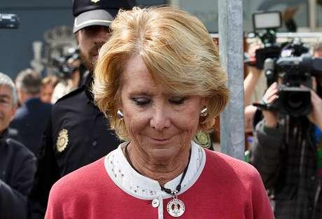 Esperanza Aguirre, a la salida de la Audiencia Nacional la semana pasada