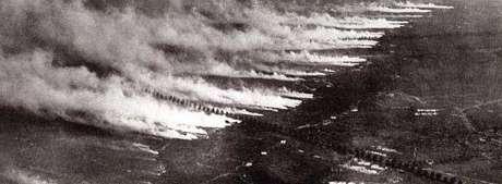 Ataque com gás: uma paisagem aterradora