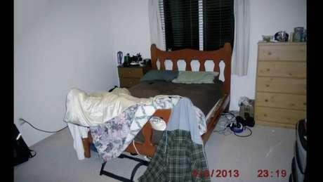 Quarto de Nathon na casa onde aconteceu o ataque; sua família mudou-se após o incidente