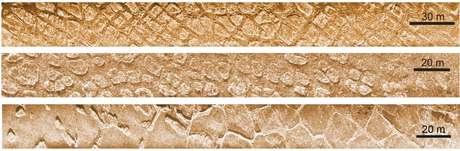 Essas formações terrestres foram submersas há pelo menos 7 mil anos por ciclos de congelamento e aquecimento
