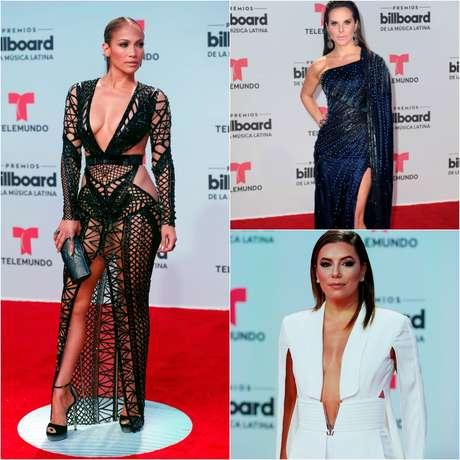 Las estrellas en la alfombra roja de los Premios Billboard 2017.