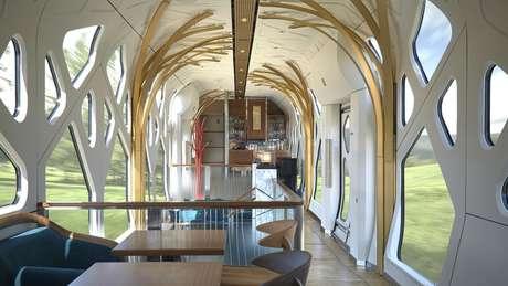 O Shiki-shima fez sua viagem inaugural em 1º de maio. O trem foi projetado pelo designer Ken Kiyoyuki Okuyama e, segundo a publicidade oficial, usou materiais de luxo, muitos deles ligados ao artesanato tradicional japonês