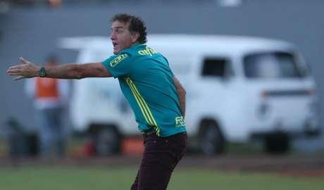 Cuca e sua calça vinho estão voltando para o Palmeiras (Foto: Cesar Greco/Palmeiras)