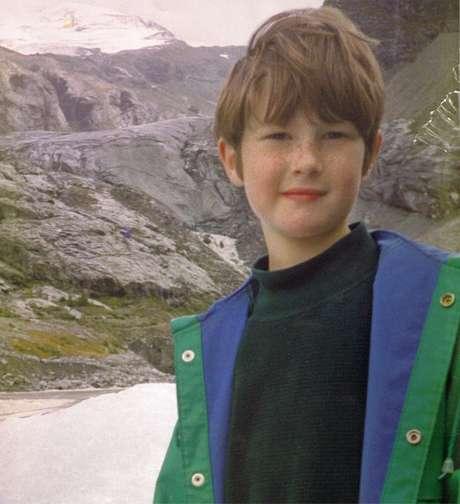 Nicholas nos Alpes suíços dias antes de morrer