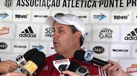 Kleina deve mudar o esquema da Ponte para enfrentar o Corinthians na Arena (Foto: PontePress/Rodrigo Ceregatti)