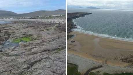 Praia reaparece mais de 30 anos depois