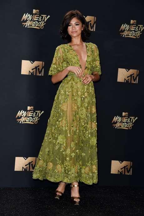 Zendaya en la alfombra roja de los MTV Movie & TV Awards 2017.